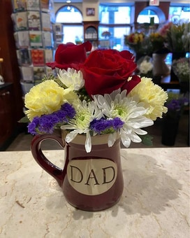 Dad Mug Flower Arrangement