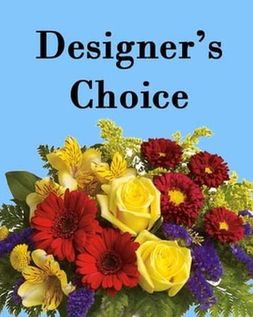 Designer's Choice  with Vase Flower Arrangement
