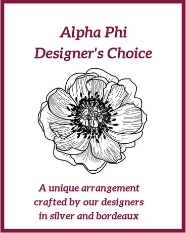 Alpha Phi Designer's Choice Flower Arrangement