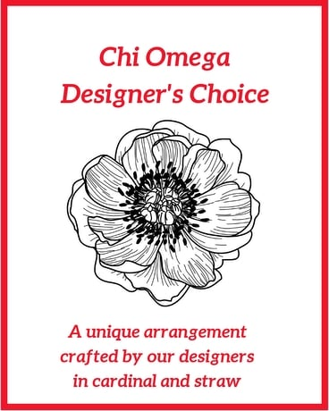Chi Omega Designer's Choice Flower Arrangement