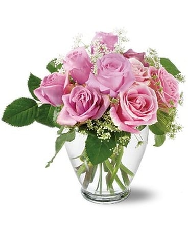Teleflora's Tender Pinks - by Lovebird Flowers Inc Flower Arrangement