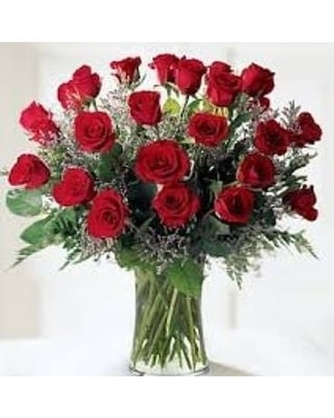 Lovebirds 2 Dozen Red Rose Bouquet In a Vase Custom product