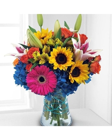 Follow the rainbow by Lovebird Flowers Flower Arrangement