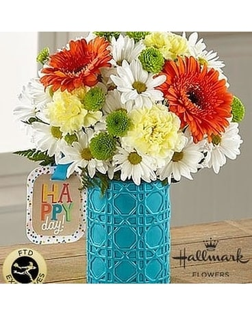 A Very Bright Birthday by Lovebird Flowers Flower Arrangement