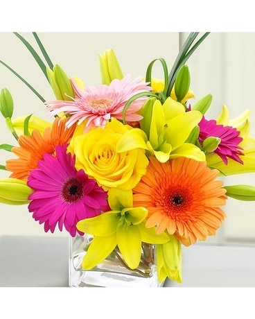 You Light Up My Life by Lovebird Flowers Flower Arrangement