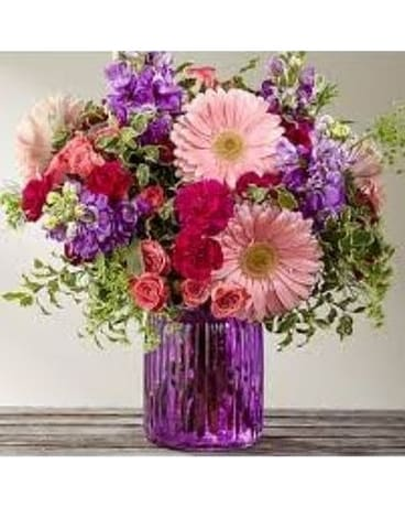 Encouraging Happiness by Lovebird Flowers Flower Arrangement
