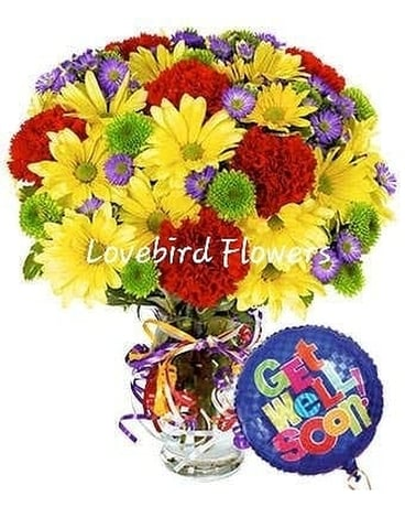 Sending Good Vibes Your Way by Lovebird Flowers Flower Arrangement