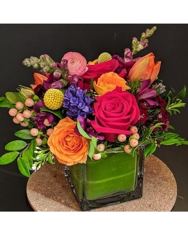 Vibrant Garden by Lovebird Flowers Flower Arrangement