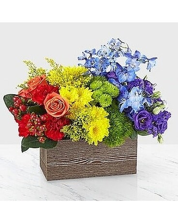 A rainbow of love by lovebird flowers Flower Arrangement