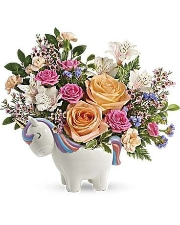 Magical Garden Unicorn by Lovebird Flowers Flower Arrangement