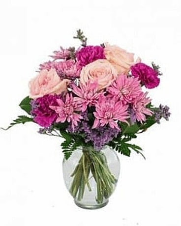 Pink Is Perfection by Lovebird Flowers Flower Arrangement