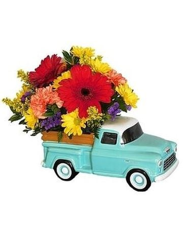 Dad's Classic Chevy by Lovebird Flowers Flower Arrangement