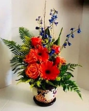 Tangent and Opal by Lovebird Flowers Flower Arrangement
