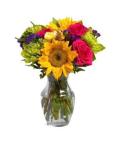 Beautiful Sunshine by Lovebird Flowers Flower Arrangement