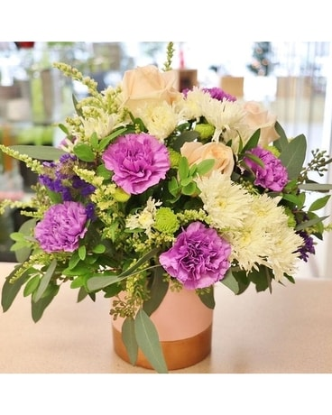 All A Glow By Lovebird Flowers Flower Arrangement