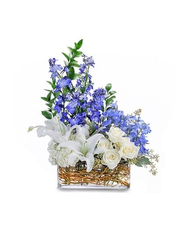 Majestic Blue By House of Flowers Flower Arrangement