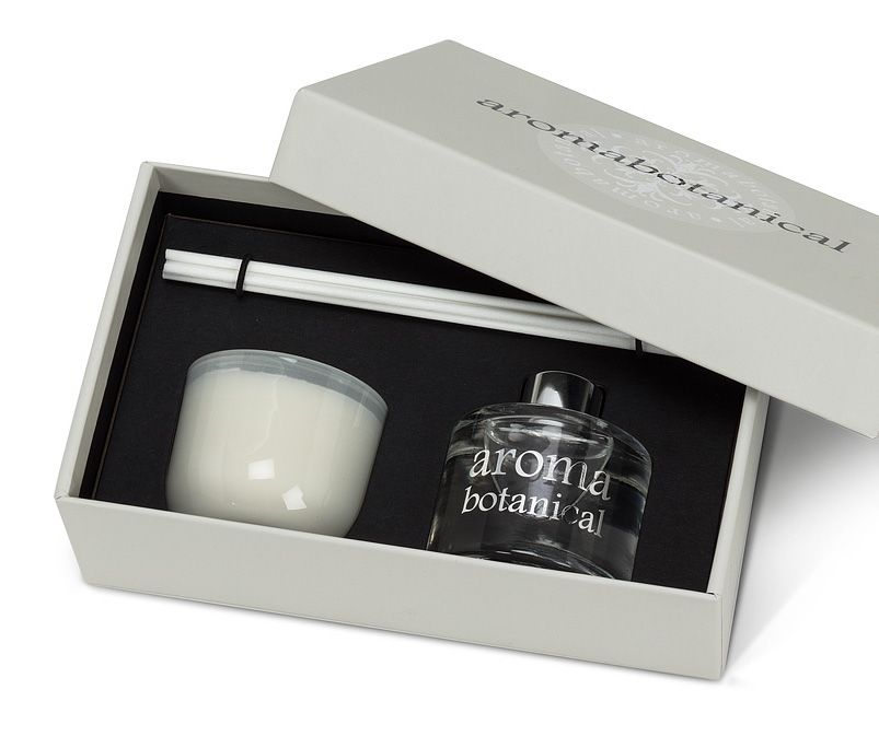 Aromabotanical diffuser (50ml) & candle (2oz) gift set