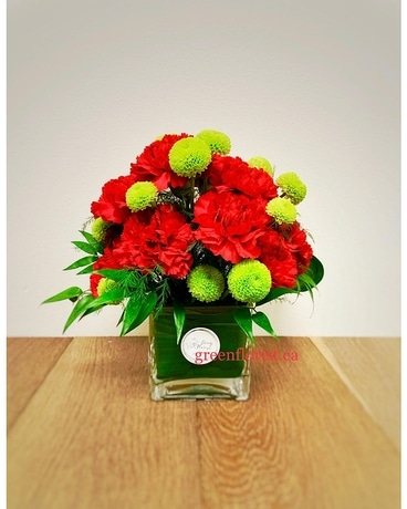 Christmas Carol Flower Arrangement
