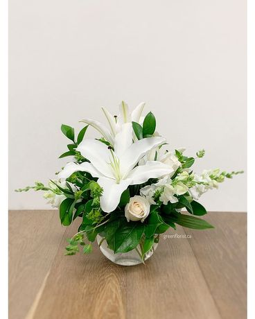 Lily Bowl Flower Arrangement