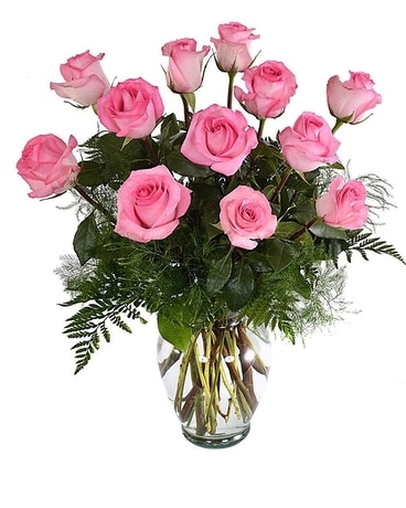 Pink Roses Flower Arrangement