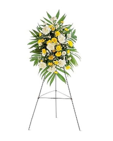 Yellow Dawn Spray Flower Arrangement