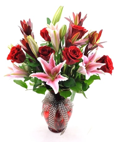 Valentine Elegance Flower Arrangement