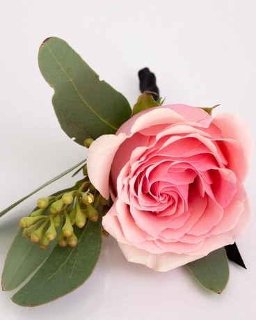 Boutonniere Rose, Pink Flower Arrangement