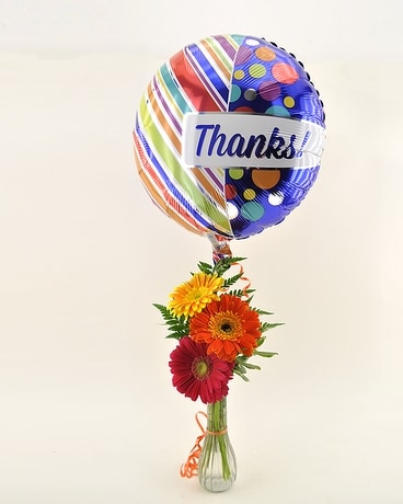 Thank You Bud Vase Flower Arrangement