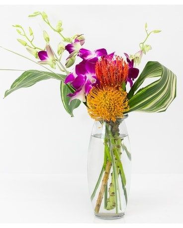 Hula Tropical Vase Flower Arrangement
