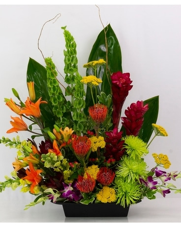 Volcano Tropical Design Flower Arrangement