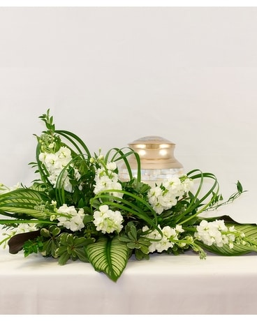 Peaceful Cremation Arrangement Flower Arrangement