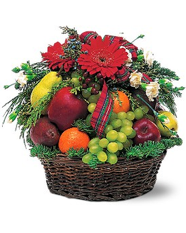 Fabulous Fruit Basket Flower Arrangement
