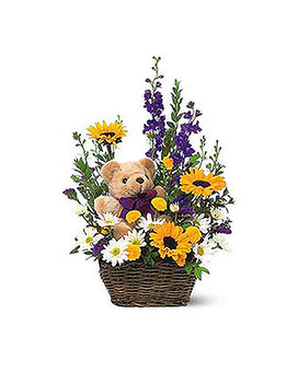 My First Bear!TM Flower Arrangement