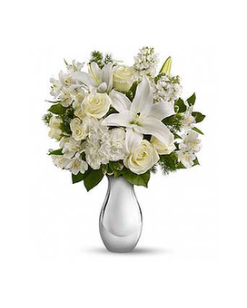 Faith Hill's Shimmering White Flower Arrangement