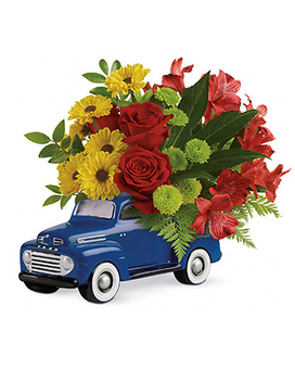 Glory Days Ford Pickup Flower Arrangement