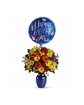 Birthday Fly Away!TM Flower Arrangement
