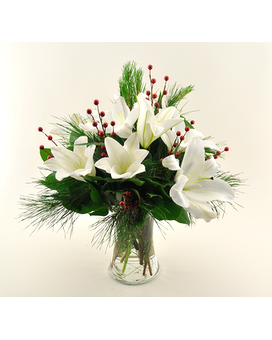 Winter Siberia Lilies Flower Arrangement