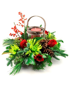 Farm House Christmas Flower Arrangement