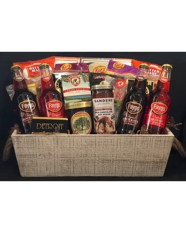 Michigan Detroit Basket Gift Basket