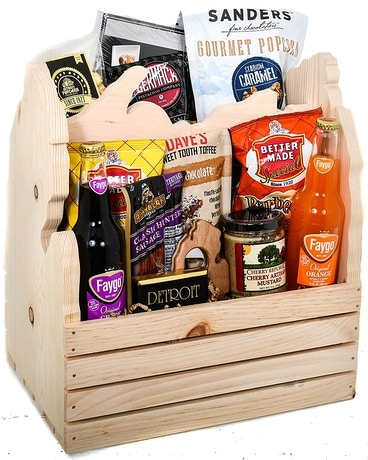 Michigan Mitten Crate Gift Basket