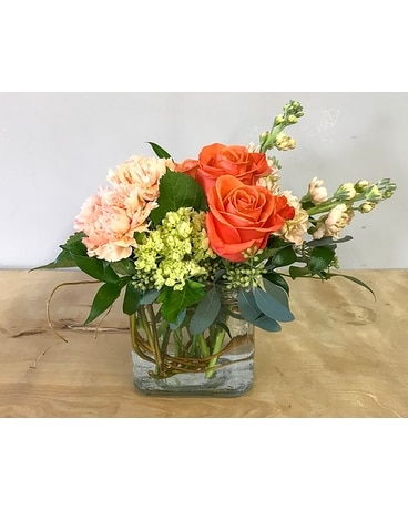 Citrus Spring Flower Arrangement