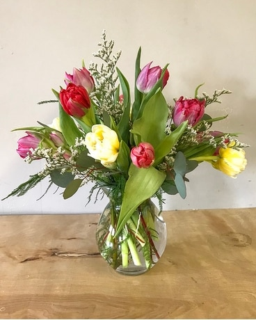 Lovely Tulips Flower Arrangement