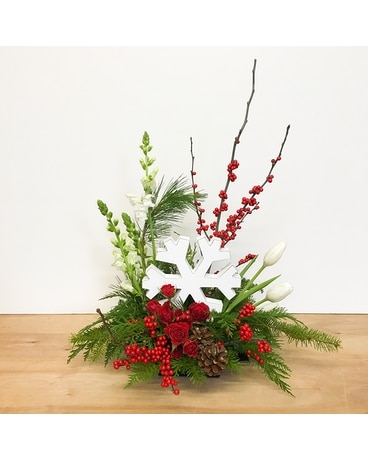 Snowflake Wonderland Flower Arrangement