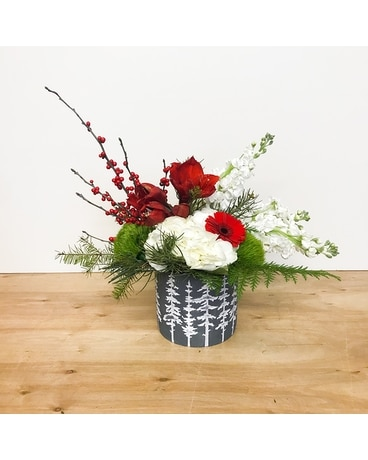 Christmas Pine Flower Arrangement