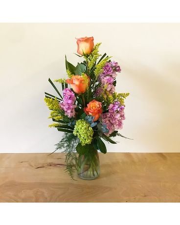 Crisp Garden Flower Arrangement