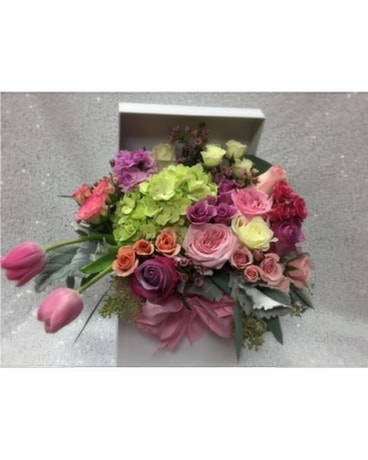 Garden In a Box Flower Arrangement