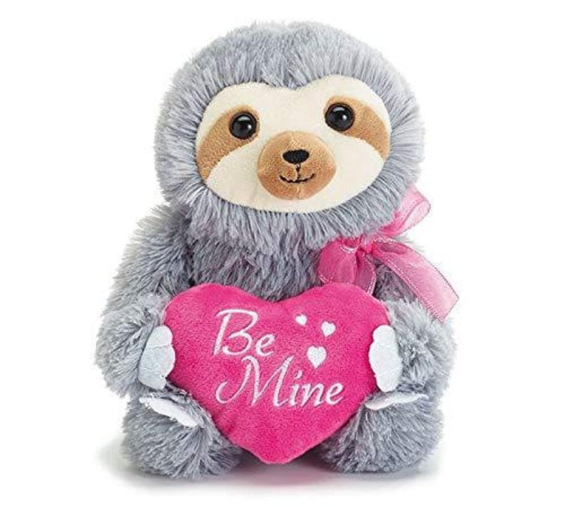 Be Mine Plush Valentine's Sloth