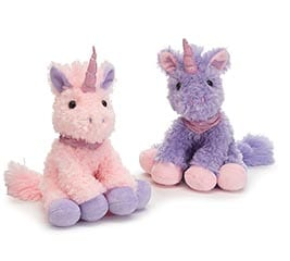 Pink or Lavender Plush Unicorn