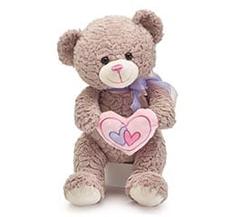 Valentine's Bear with Pink Heart