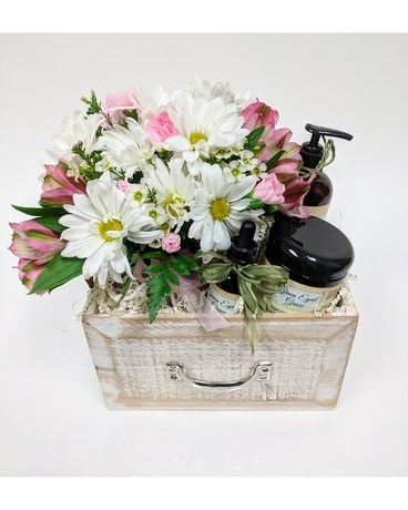 You Deserve It Spa Box Flower Arrangement